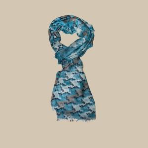 Павловопосадский шарф (палантин) мужской «10482-12»