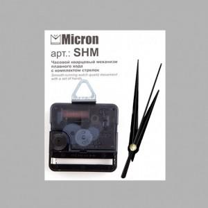"""Часовой кварцевый механизм плавного хода """"Micron-02"""" с комплектом стрелок SHM-02 16 мм"""