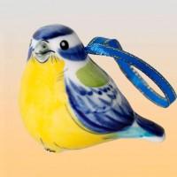 Елочная игрушка СИНИЧКА  (гжель)