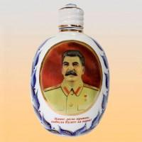 Штоф ФЛЯЖКА Сталин (деколь, гжель)
