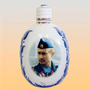 Штоф ФЛЯЖКА Путин (деколь, гжель)