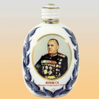 Штоф ФЛЯЖКА Жуков (деколь, гжель)