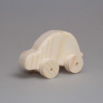 """Деревянная игрушка автомобиль """"Жук"""" (на колесиках)"""