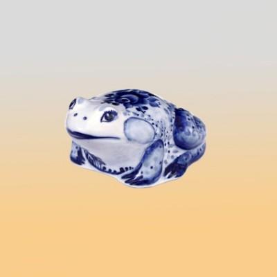 Скульптура «Лягушонок» (гжель)