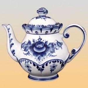 Чайник «Летняя фантазия» (гжель)