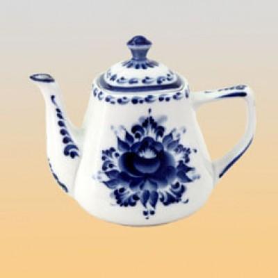 Чайник квадратный (гжель)