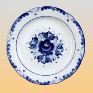 Тарелка плоская (гжель) Ø 240