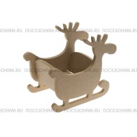 Накладка для декора фигурная (МДФ) 10х7см