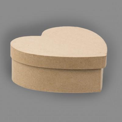 """Заготовка для декорирования из папье-маше """"коробока сердце"""" (Love2art)"""