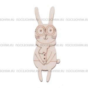 """Заготовка для значка """"Кролик-мальчик"""""""