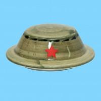 Кружка фарфоровая Солдат с крышкой Панама