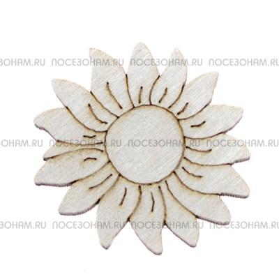 """Заготовка для значка """"Солнечный цветок"""""""