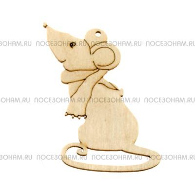 """Фигурка подвес с контуром """"Мышка с шарфиком"""""""