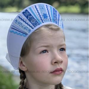 """Кокошник """"Девичий"""" КД-01 (Цвет белый)"""