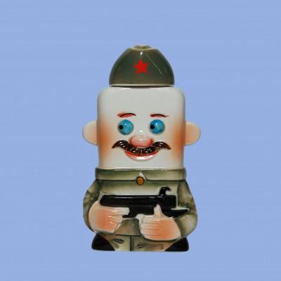 """Фляга фарфоровая """"Солдат"""""""