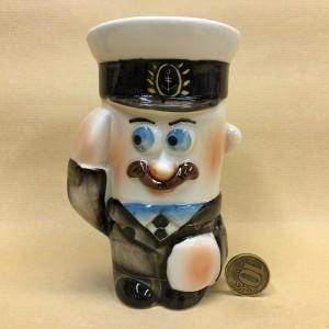 Солонка фарфоровая Офицер ВМФ