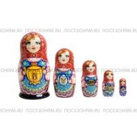 """Матрешка 5-ти кукольная (авторская) """"Чаепитие"""""""