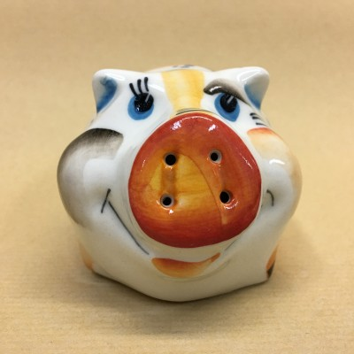 Солонка фарфоровая Свинка