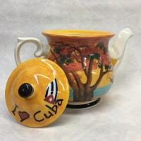 """Чайник фарфоровый """"Кубинские мотивы"""""""