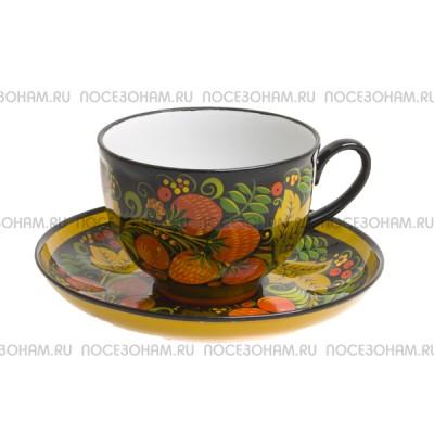 "Чайная пара ""Клубника"" (хохлома)"
