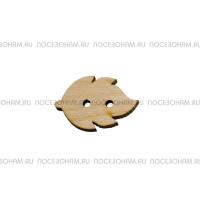 """Заготовка пуговицы из фанеры """"Листик"""""""