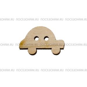 """Заготовка пуговицы из фанеры """"Авто"""""""