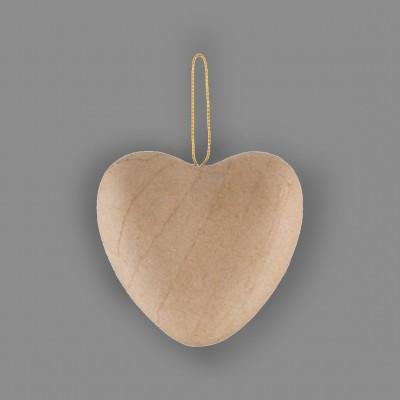 """Заготовка для декорирования из папье-маше """"сердце"""", 7.5 см 4 шт."""
