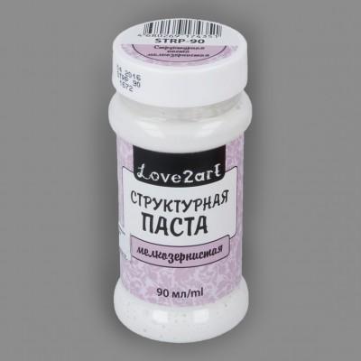"""Структурная паста мелкозернистая для депажа цвет белый, """"Love2art"""", 90 мл"""