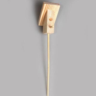 """Игрушка из дерева """"Скворечник декоративный"""" малый (на подставке)"""