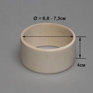 Деревянный браслет взрослый 4см (прямой)