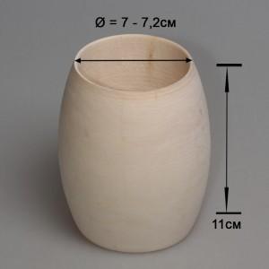 Деревянный браслет взрослый 11см (округлый)
