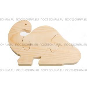 """Деревянный пазл """"Бронтозавр"""""""