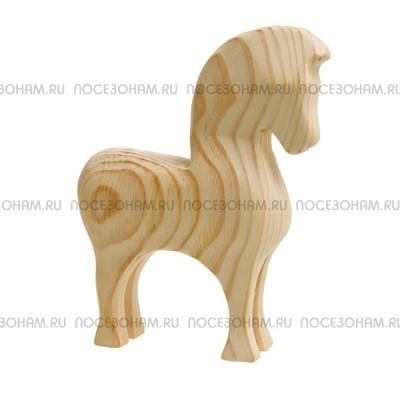 """Деревянная трехмерная заготовка """"Богатырский конь"""""""
