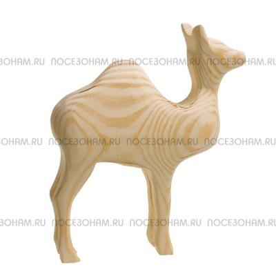 """Деревянная трехмерная заготовка """"Верблюд одногорбый идущий"""""""