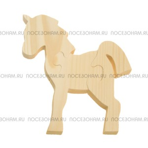 """Деревянный пазл """"Лошадка-1"""""""