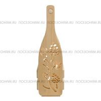 Короб под бутылку шампанского с ручкой (перфорированная декорация)