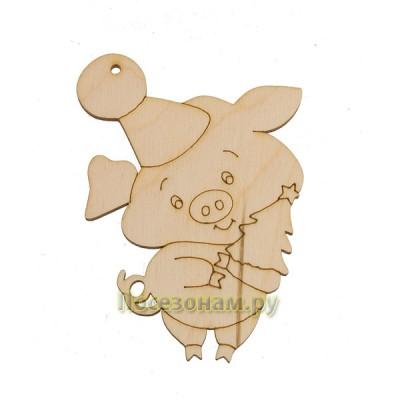 """Фигурка плоская (подвес) """"С Новым Годом Свинки!"""""""