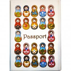 """Обложка для паспорта """"Твой стиль"""", """"Матрешки"""", 188х134 мм"""