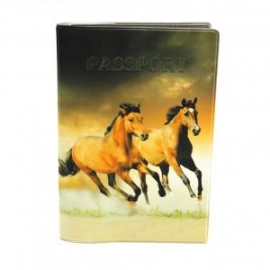 """Обложка для паспорта """"Твой стиль"""", """"Лошади"""", 188х134 мм"""