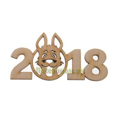 Надпись плоская  из фанеры Год Собаки 2018