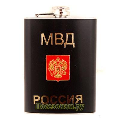 """Фляжка """"МВД"""" (черная)"""