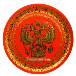 """Панно """"Герб России"""" (хохлома)"""