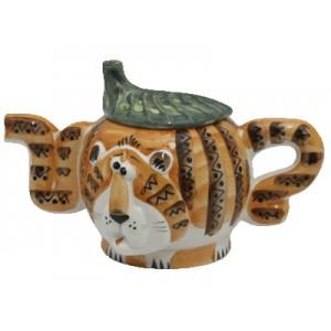 """Чайник фарфоровый """"Два Тигра"""""""