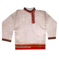 Косоворотка с поясом мужская (детская) лен серая
