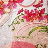 """Павловопосадский платок """"Танцующие орхидеи"""""""