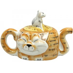 """Чайник фарфоровый """"Два Кота"""""""