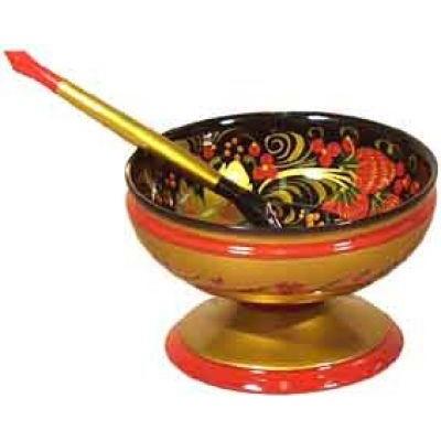 Набор из розетки с ложкой (хохлома)