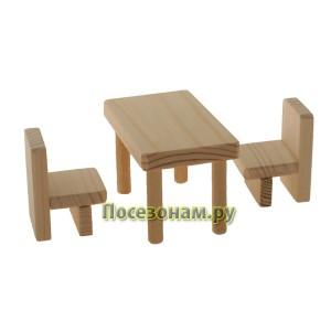 """Деревянная заготовка """"Стол и стулья"""""""