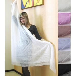 Платок пуховый ажурный (паутинка) 150 × 150 см