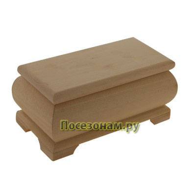Деревянная заготовка фигурная шкатулка 19,5 х 10,5 х 7,8 см
